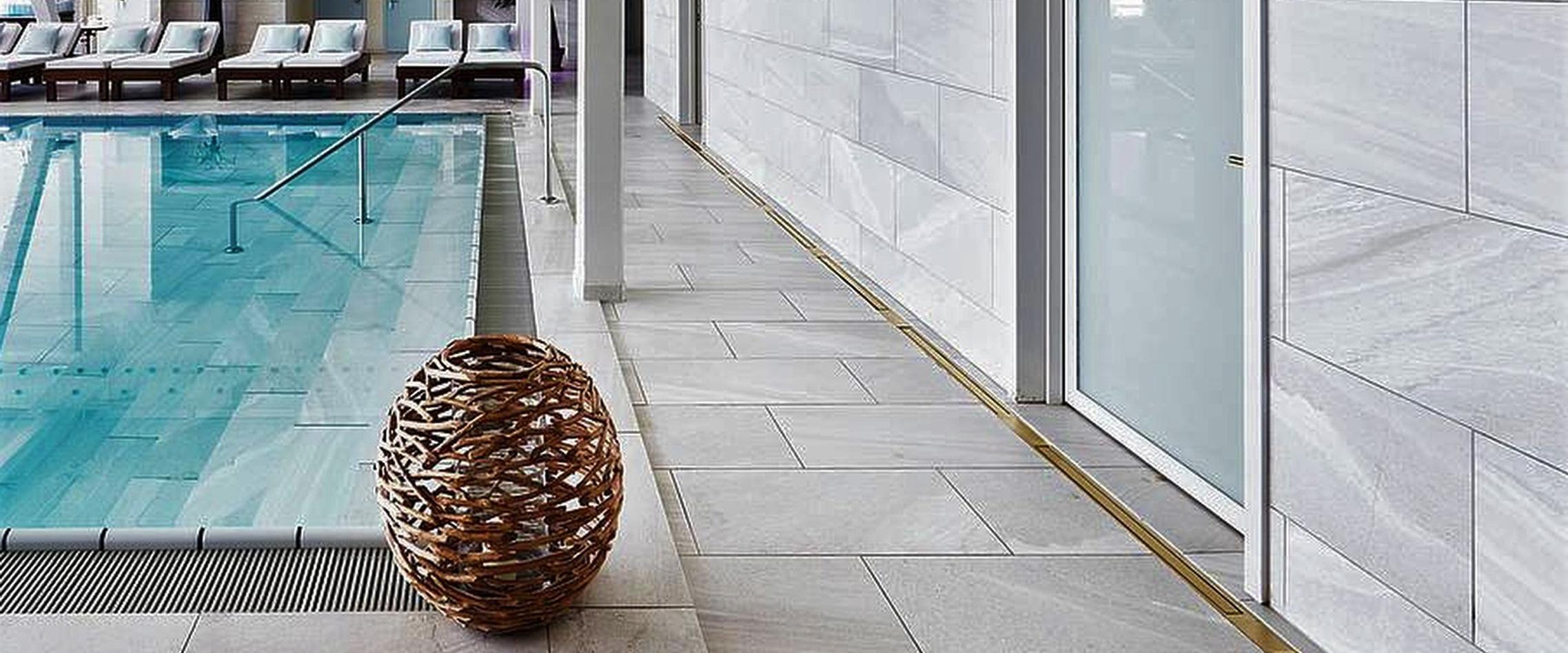 non slip flooring tiles in a wet room swimming pool