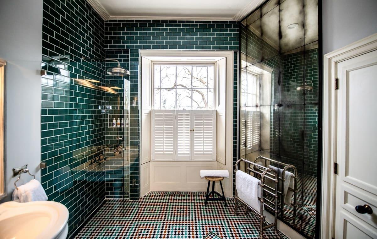cheltenham green coloured wet room