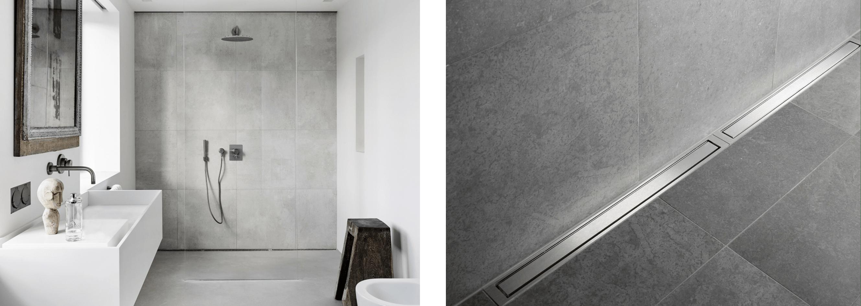 grey tiles in wet room inspiration